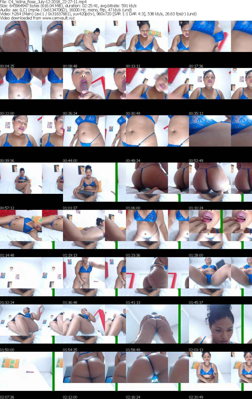 Video preview for model Yelina_Rose
