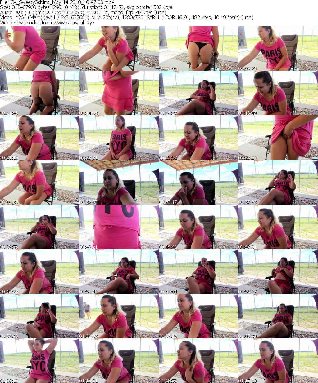 Video preview for model SweetySabina