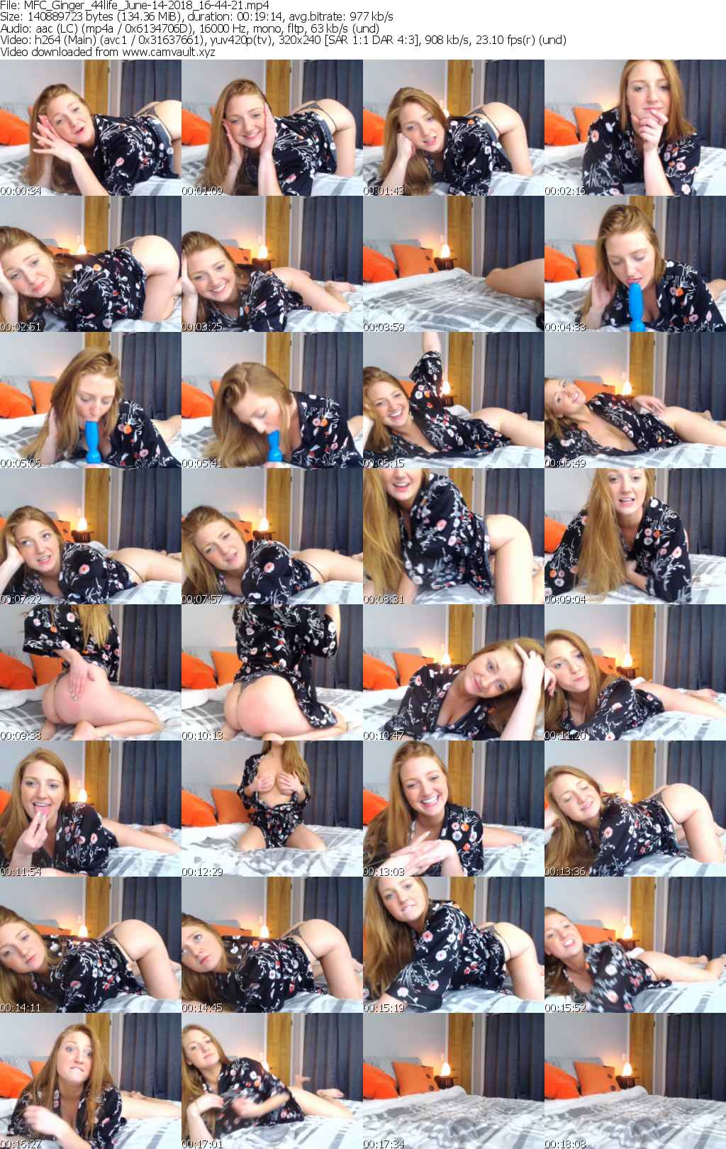 Video preview for model Ginger_44life