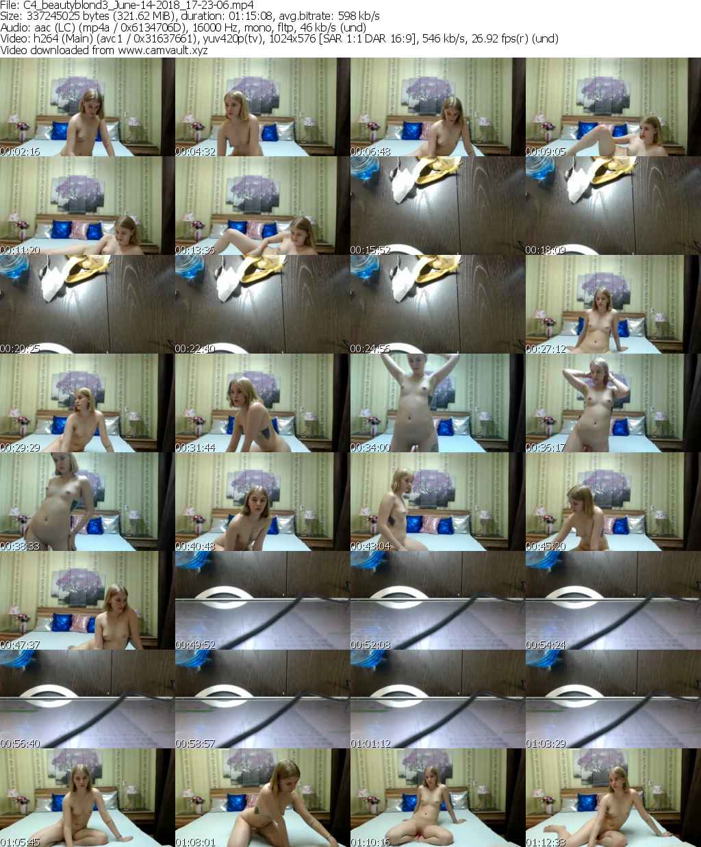 Video preview for model beautyblond3