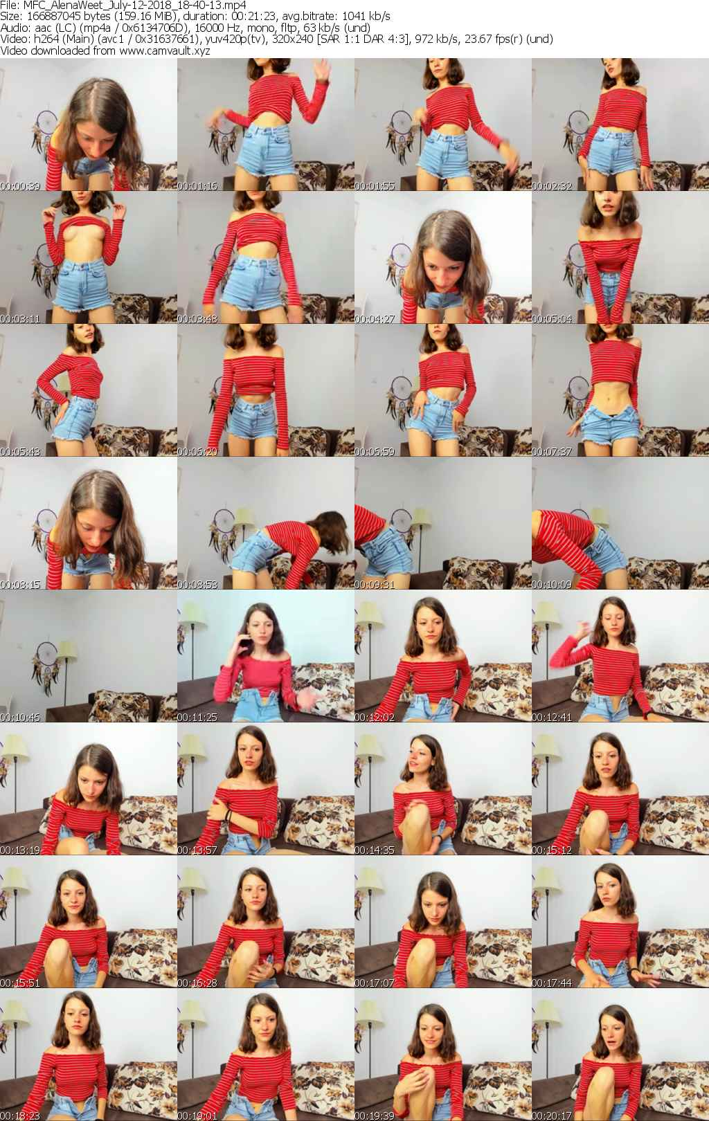 Video preview for model AlenaWeet