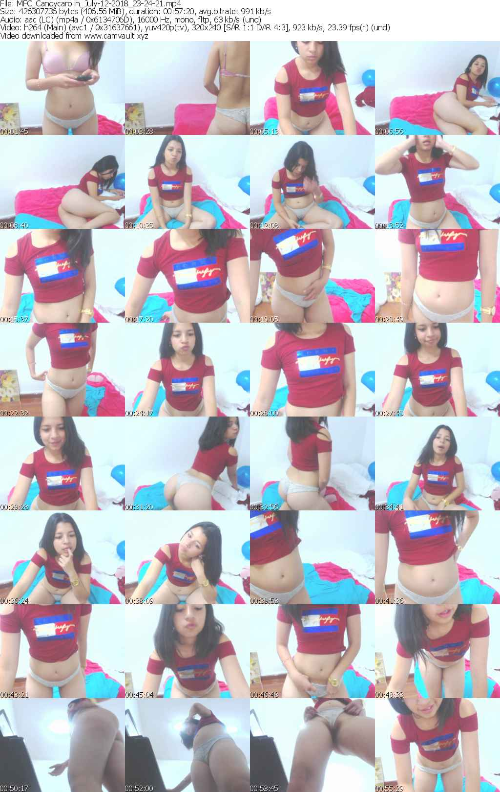 Video preview for model Candycarolin