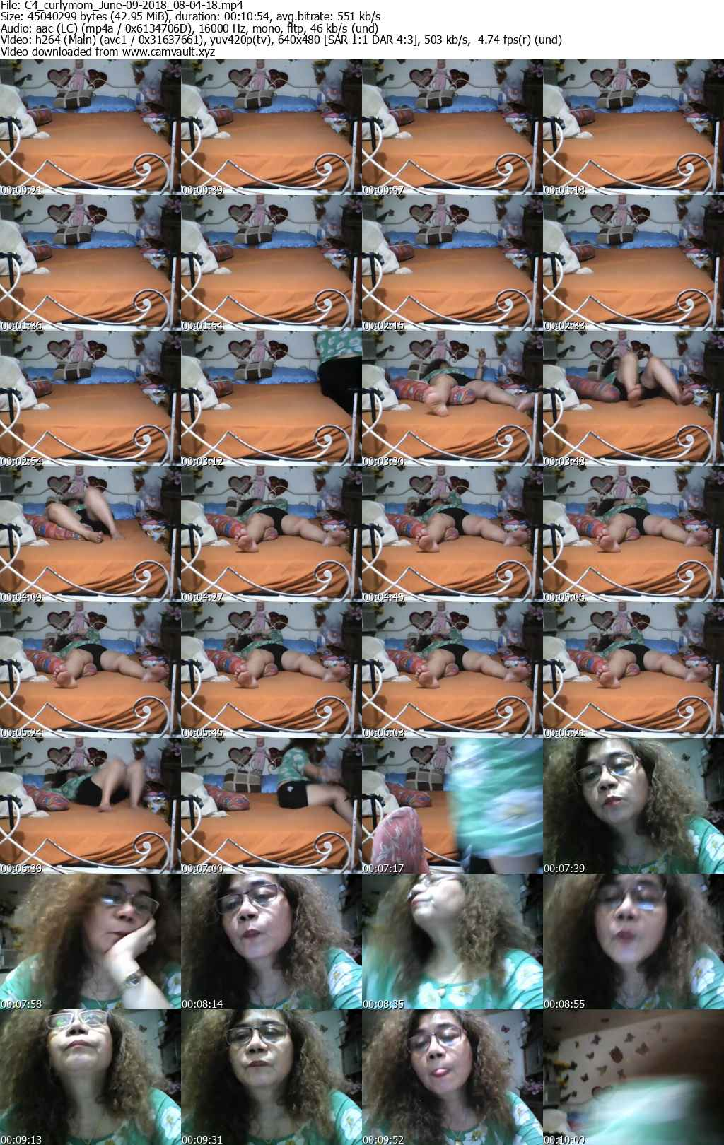 Video preview for model curlymom