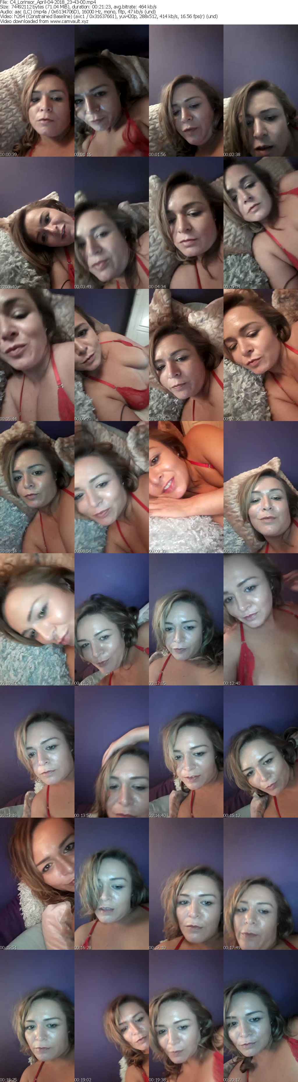 Video preview for model Lorinsor