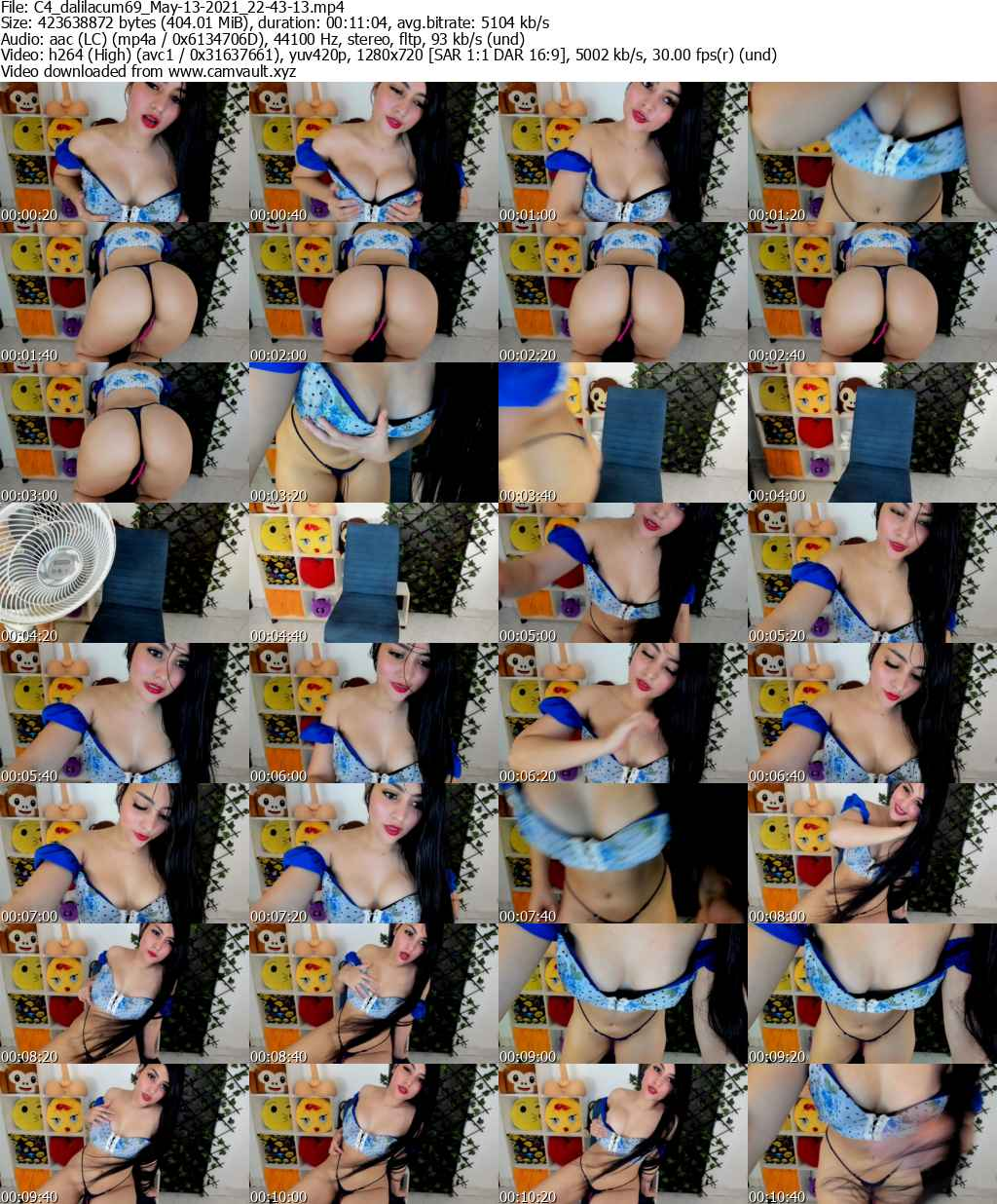 Video preview for model dalilacum69
