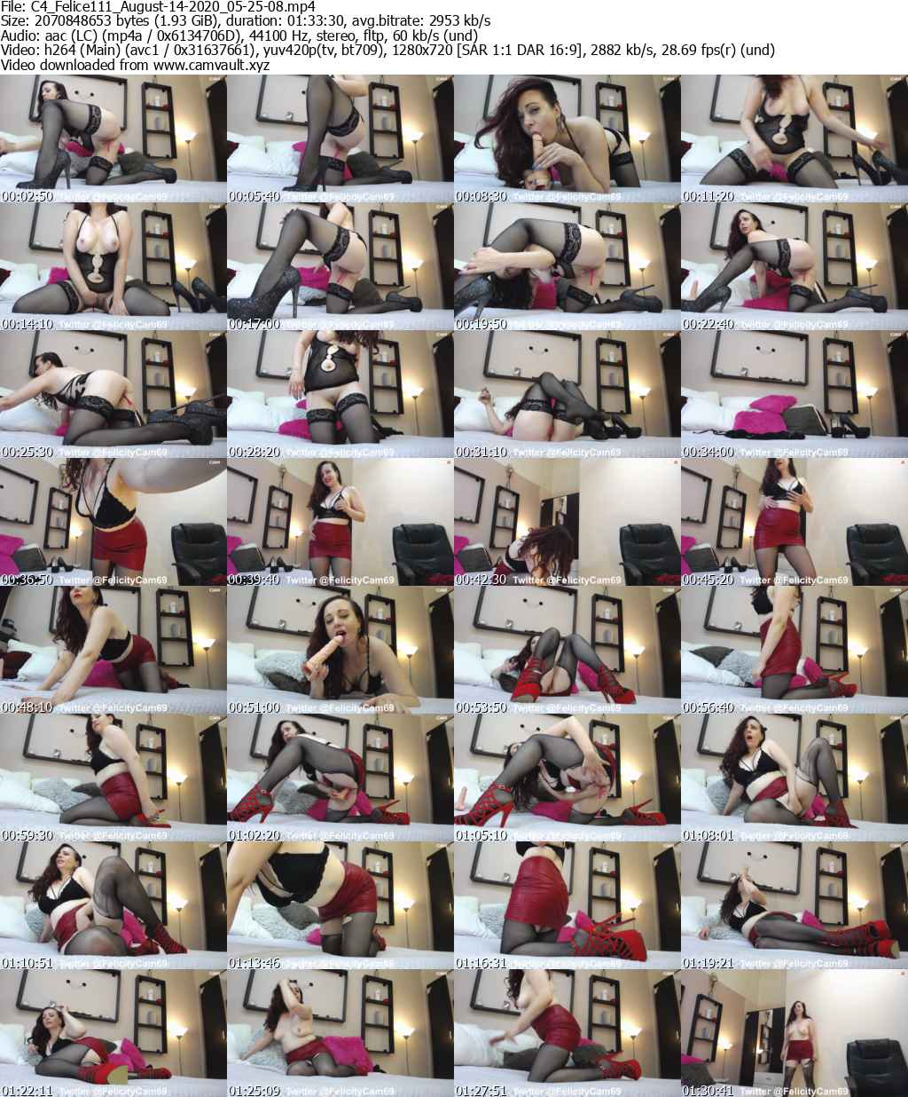 Video preview for model Felice111