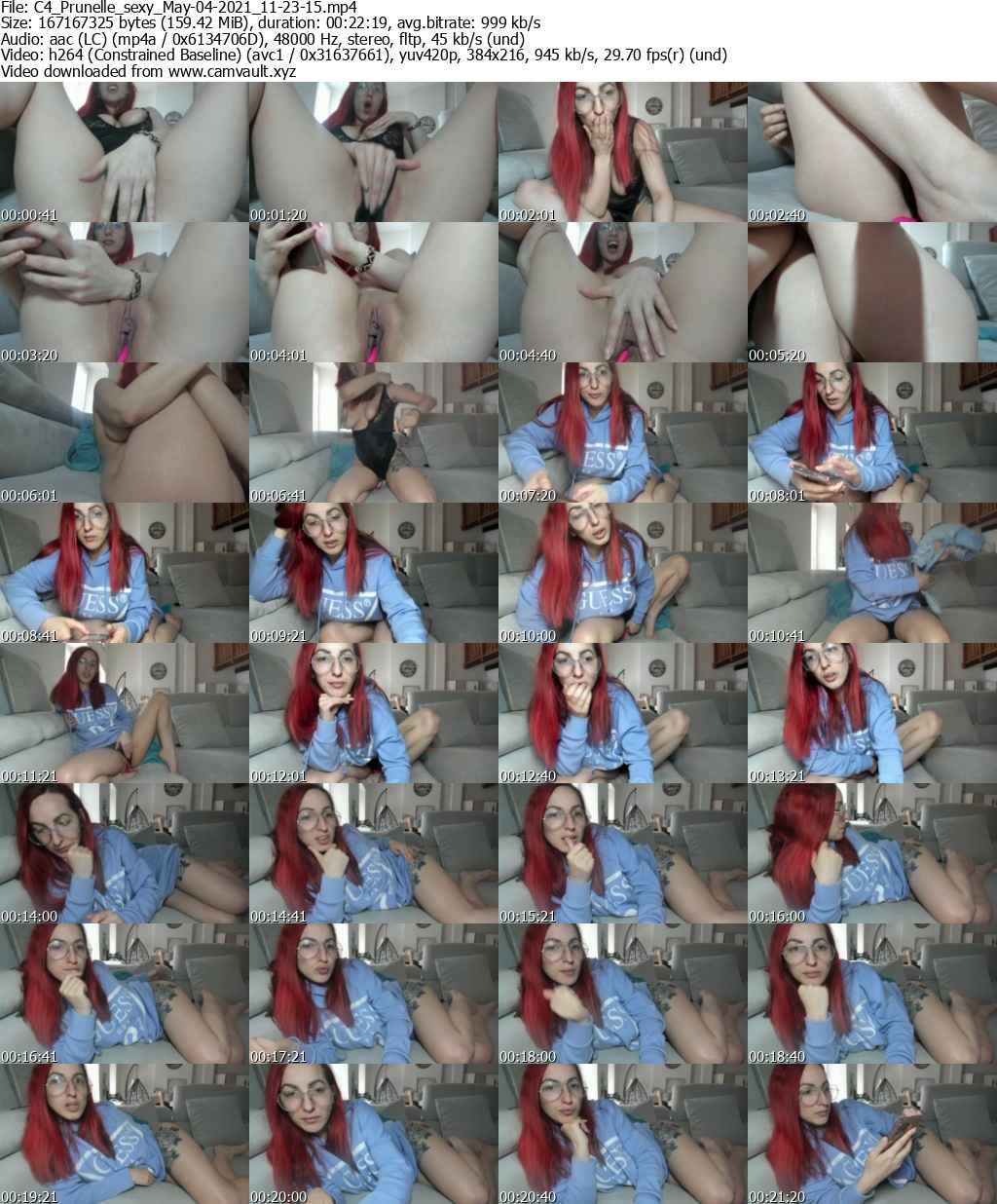 Video preview for model Prunelle_sexy
