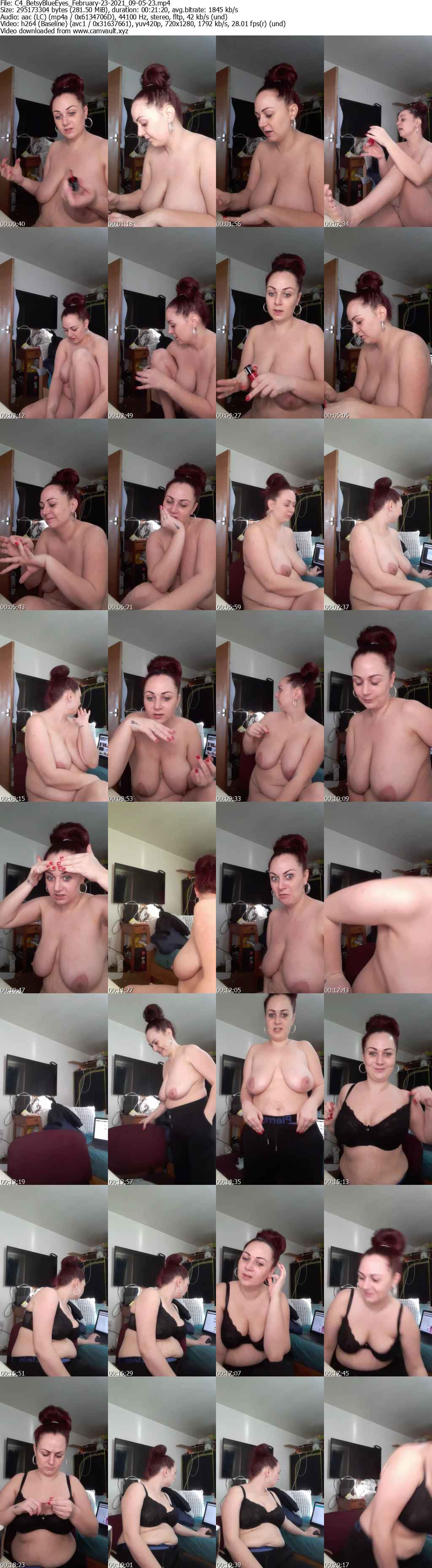 Video preview for model BetsyBlueEyes