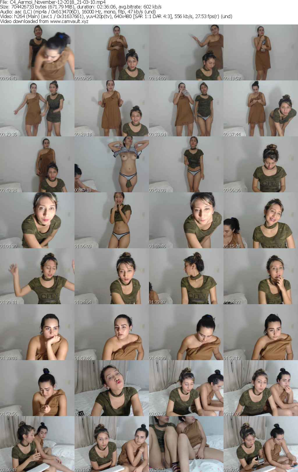 Video preview for model Aarmoi
