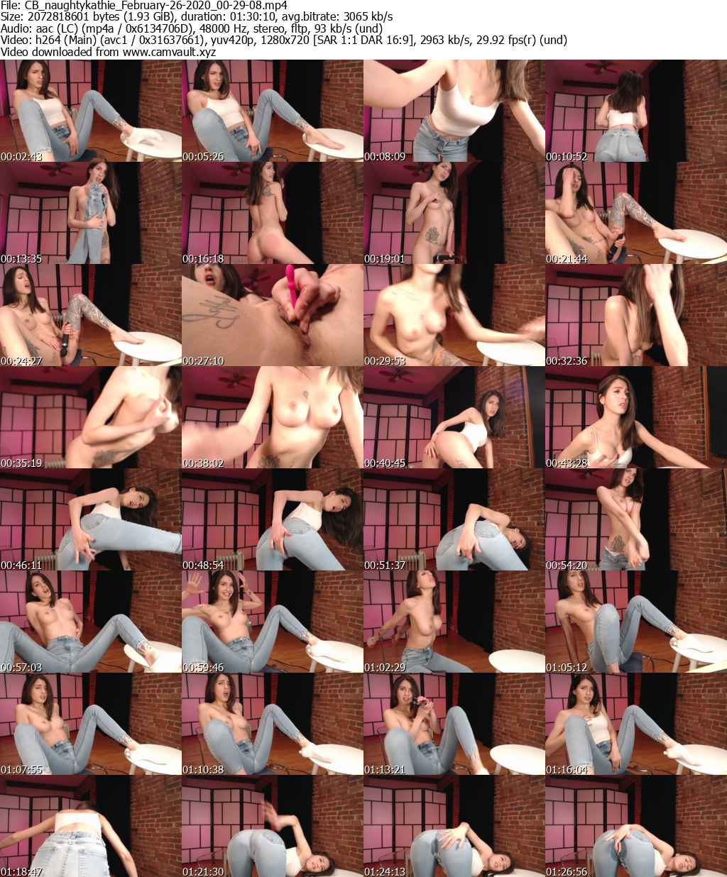 Video preview for model naughtykathie